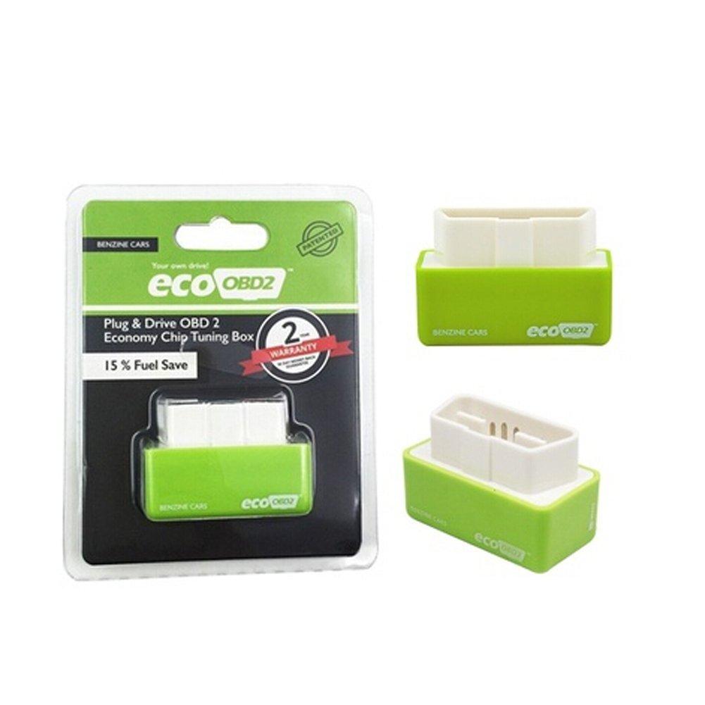Sel-More OBD2 Plug and Drive performance chip Tuning Box per auto benzina Benzine benzina Power Torque Fuel ottimizzazione verde Green