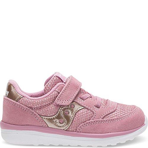 Saucony Baby Jazz Lite Sneaker, Blush Metallic, 6.5 M US Toddler