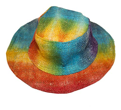 manakamana Hemp Sun Hat, Rainbow Summer Bucket Hat