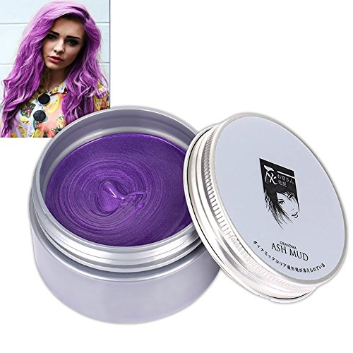 Cocohot 7 Colors Temporary Hair Dye Cream Hair Color Mud Wax, Instant DIY Hairstyle Max Modeling Cream for Party, Cosplay, Nightclub, Masquerade, Halloween -