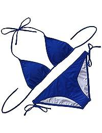 Qiaoer Women's 2 Piece Triangle Bikini Tie Side Bottom Swimsuit