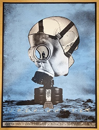 (2014 Jack White - Tulsa Concert Poster by Rob Jones)