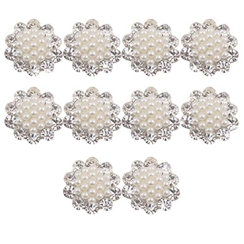 T8 Faux Pearl Flower Buttons Craft Embellishments 20mm for sale  Delivered anywhere in USA