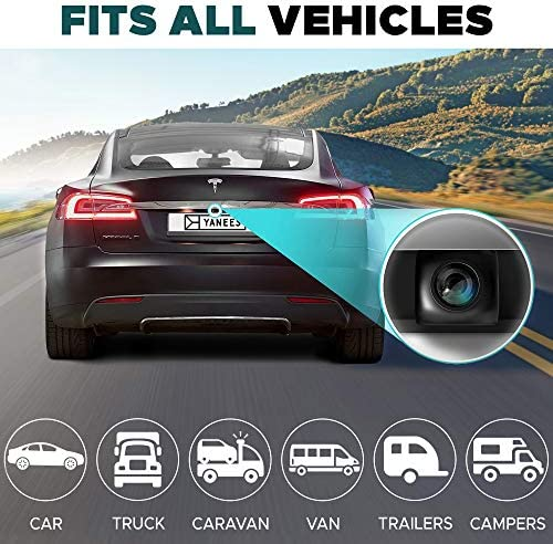 Backup Camera Night Vision – HD Car Rear View Camera – Parking GuideLines ON Off – Wide View Angel – Waterproof Reverse Auto Back Up Car Backing Camera – High Definition – Fits All Vehicles by Yanees