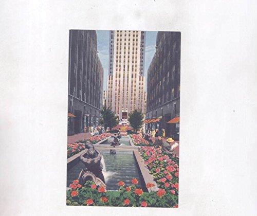 1930's Garden Plaza of Rockefeller Center New York City ORIGINAL - Plaza Center