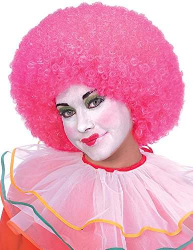 - Rubie's Neon Afro Clown Wig, Pink, One Size