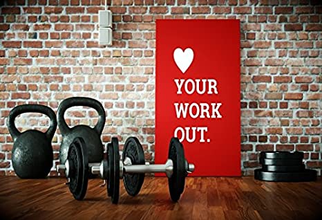 Laeacco Gym Photography Background 10x6.5ft Gymnasium Dumbbell Room Workout Sport Fitness Weightlifting Training Coach
