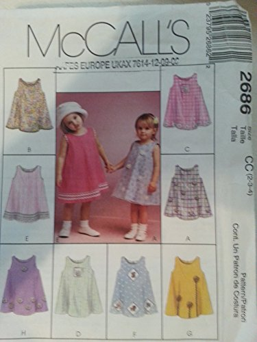 (McCall's 2686 Toddler's Express Yourself Sundress Size CC (2-3-4))