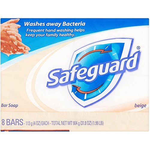 Safeguard Antibacterial Deodorant Bar Soap, 4 oz bars, 8 ea (Pack of 4)