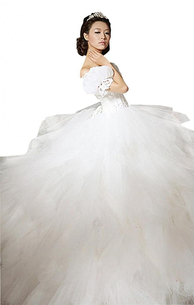 Dearta Womens Ball Gown Wedding Dresses with Beading