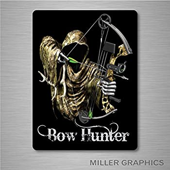 85d1bc7a7a8e3 Bow Hunter Grim Reaper (Black) Decal Sticker Graphic Car Truck Window  (Large) - 7