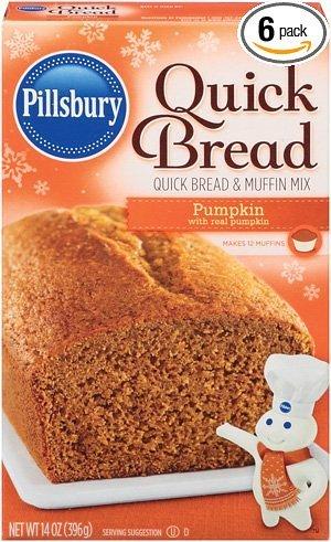 Pillsbury Pumpkin Quick Bread and Muffin Mix - 14 oz (Pack of 3)