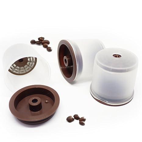 Kuner Illy Compatible Recargables 3 cuenta cápsulas reutilizable filtros con todos los Illy café máquina