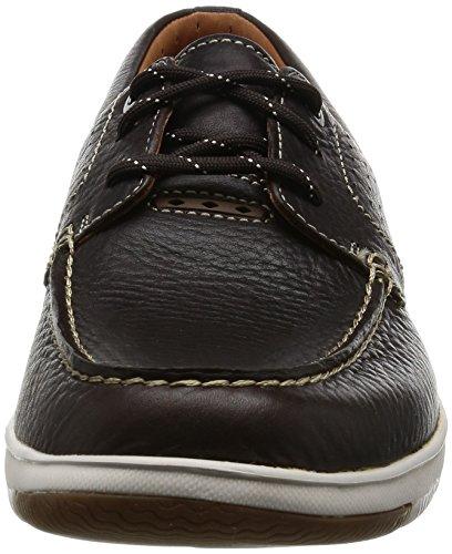 Hombre Edge Marrón Clarks Piel Zapatos Unmaslow Casual En zOxq75H