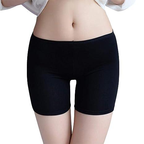 69afa9dc1edc Falda Corta Debajo de los Pantalones Cortos de Seguridad, Pantalones Cortos  para Mujer Ropa Interior de algodón Anti Rozaduras, Pantalones de ...