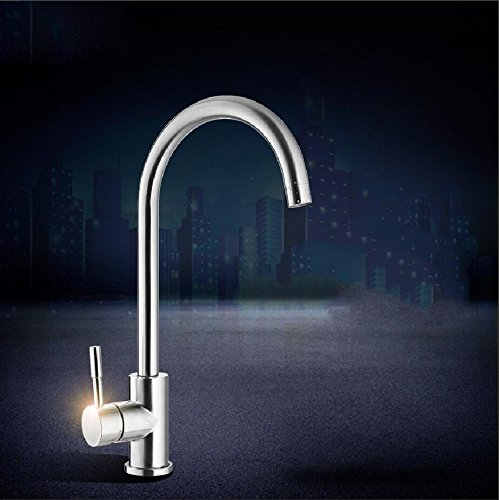Stainless Steel Kitchen Faucet JWLT The 304 stainless steel kitchen faucet can be turned into hot, cold, hot, lead-free kitchen pots and water faucets,Stainless steel kitchen faucet