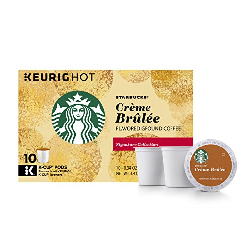 Creme Cup - Starbucks Crème Brulée Flavored Blonde Light Roast Single Cup Coffee for Keurig Brewers, 6 Boxes of 10 (60 Total K-Cup pods)