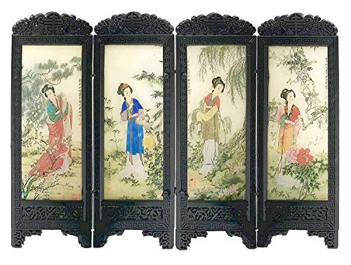 Dollhouse Miniature 1:12 Scale Woman Chinese Screen #S8131