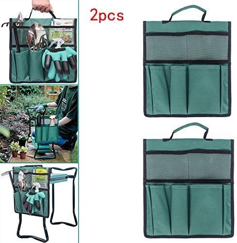 ZYAO Kaufen Sie eine und erhalten Sie eine kostenlose tragbare Multifunktions-Gartentasche mit Gartengriff und wasserdichter Aufbewahrungstasche für den Kniestuhl im Garten (Grün)