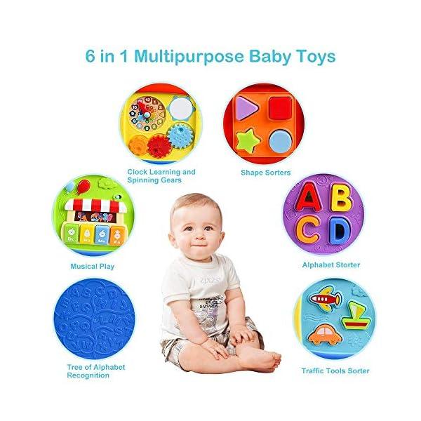 AiTuiTui Cubo attività Bambino, 6-in-1 Multifunzione Giochi Centri Educativi Prima Scatola di apprendimento Infanzia… 2