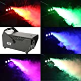 Tengchang 400 Watt Smoke Fog Machine RGB LED Light DJ Party Wireless Remote Control Fogger