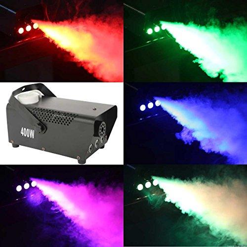 [Tengchang 400 Watt Smoke Fog Machine RGB LED Light DJ Party Wireless Remote Control Fogger] (Party Fog Machine)