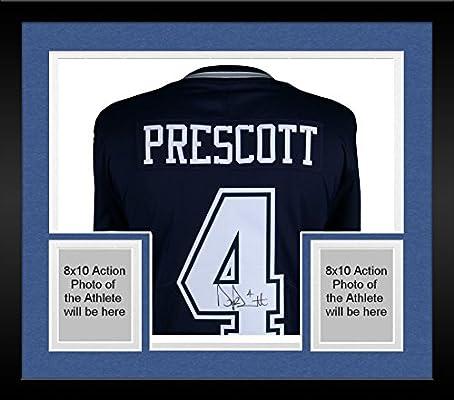 size 40 29d21 f6b50 Framed Dak Prescott Dallas Cowboys Autographed Blue Nike ...