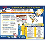 Brady 18'' X 24'' Blue/Red/Yellow On Black Paper Arc Flash Awareness Poster''PREVENTING ARC FLASH INJURIES''