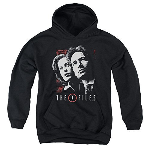 x-files-mulder-scully-big-boys-pullover-hoodie-black-md