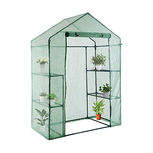 YOUKE Walk-in Greenhouse PE Cloth Cover Garden House Succulent Plants Flowers Green Plant Insulation Family - Greenhouse Mini