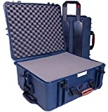 "Porta Brace ""Safeguard"" Waterproof XL eXtra Large Field Production Vault, Camcorder Hard Case with Interior ""Diced"" Foam & Wheels."