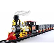 Amazon Lightning Deal 78% claimed: MOTA Classic Toy Train with Real Smoke - Signature Lights and Sounds - Full Set with Locomotive Engine and Cars, Tracks