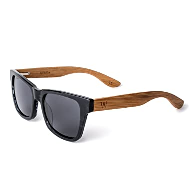 426fac772d WOODZEE Polarized Bamboo or Wood Sunglasses for Men or Women - Acetate  Shades (Natural Bamboo