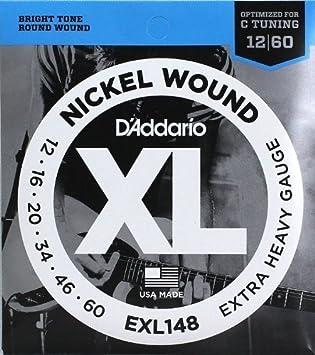 DAddario EXL148 Nickel Wound 12 60 Extra Heavy Gauge Strings 2 PACKS
