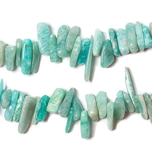 - 9-18mm Amazonite top drilled elongated plain nugget 15 inches 110 Beads