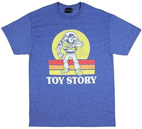 Disney Pixar Toy Story Vintage Style Buzz Lightyear Men's T-Shirt (Medium) Heather Blue