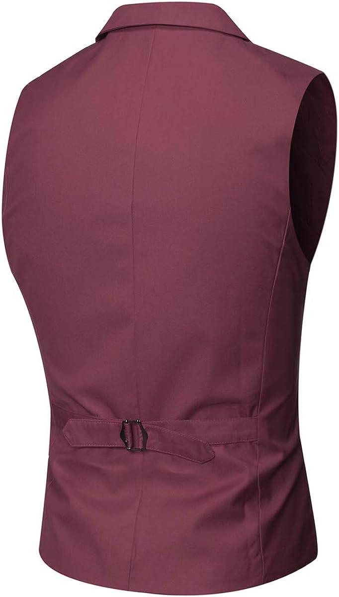 MAGE MALE Mens Slim Fit Suit Vests V-Neck Formal Business Sleeveless Dress Suit Separate Waistcoat
