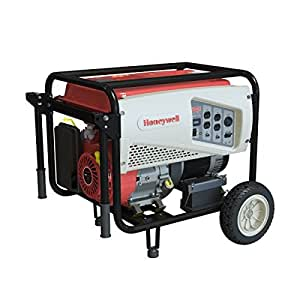 Honeywell 6152 7,500 Watt 420cc OHV Portable Gas Powered Generator with Electric Start (CARB Compliant)