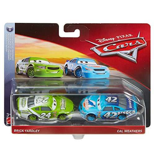 Disney Cars Character Car Brick Yardley & Cal Weathers Toy Vehicle (2 Pack)