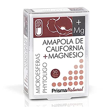 Prisma Natural Amapola de California y Magnesio Minerales - 30 Cápsulas