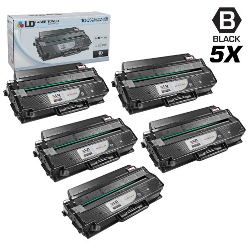 LD Compatible Toner Cartridge Replacement for Dell 331-7328 DRYXV (Black, 5-Pack)