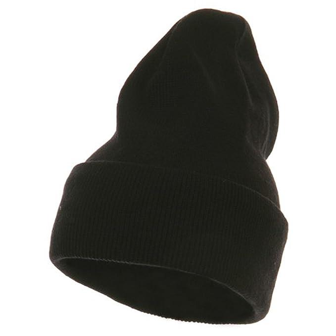 Artex Fleece Lined Cuff Plain Beanie - Black at Amazon Men s Clothing  store  Knit Caps 9966ad1bbda