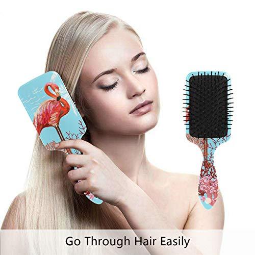 Flamingo Coral Art Prints Hair Brush Comb Scalp Massage Air Cushion for Women Girls Men Grooming Styling Shaping (Coral Flamingo)