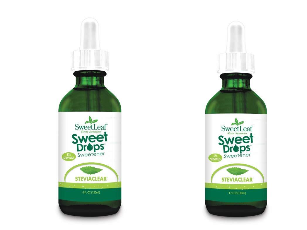 SweetLeaf Sweet Drops Liquid Stevia Sweetener, SteviaClear, 4 Ounce (Pack of 2) by SweetLeaf