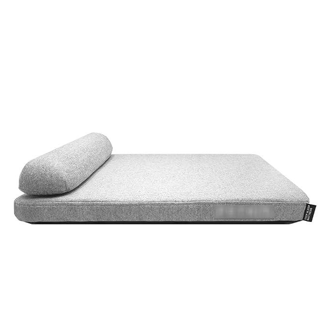 QHD Perrera, Memoria Espuma Perro sofá Cama Tela de Terciopelo Suave Limpieza extraíble colchón Suministros para Mascotas (Tamaño : 90 * 70 * 16cm): ...