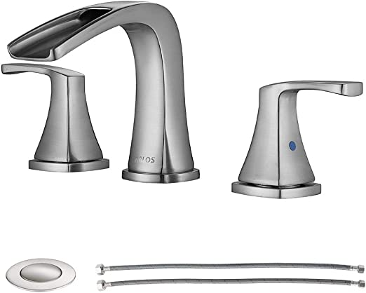 Parlos Waterfall Widespread Bathroom Faucet Double Handles With