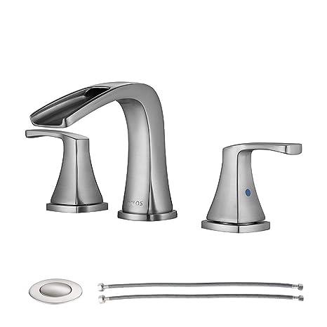 Amazon.com: PARLOS - Grifo de baño con doble asa, con ...