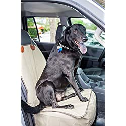2PET Waterproof Quilted Front Seat Cover. Let your Dog or Cat Ride Along Next to You. Protect the Front Seat of Your Car. Universal Fit for Most Front Seats. Nutmet Khaki