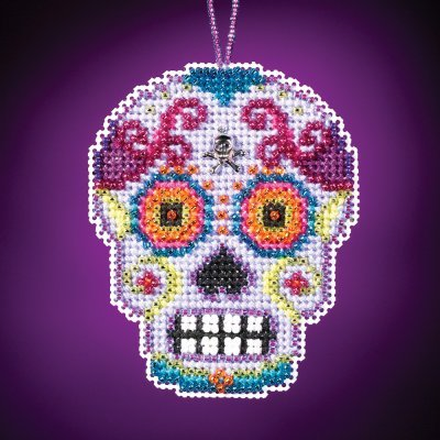 Morado Beaded Cross Stitch Halloween Kit 2016 Mill Hill Cala