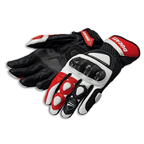 Ducati 981028237 Sport C2 Leather Gloves - Red - XXL